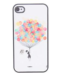 economico -Custodia rigida con disegno di palloncini in volo, per iPhone 4/4S