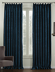 cheap -Two Panels  Traditional Embossed Floral Lined Curtain