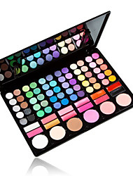 78 Lidschattenpalette Matt / Schimmer Lidschatten-Palette Puder Normal Alltag Make-up / Feen Makeup
