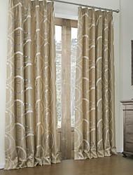 baratos -quarto rococó cortinas curva marrom painel de dois painéis de cortinas