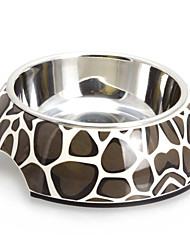 cheap -Macadam Pattern Melamine Shell Pet Stainless Steel Food Bowl for Dogs Cats (S-XL)