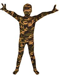 Zentai odijela s uzorkom Ninja Zentai odijela Cosplay Nošnje Braon Print Hula-hopke/Onesie Zentai odijela Lycra Dječji Halloween