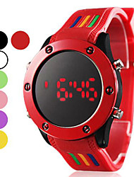 Unisex LED Digital Round Dial Silicone Band Wrist Watch (Assorted Colors) Cool Watch Unique Watch