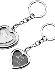 baratos -Personalizado em forma de coração Photo Frame chaveiro (conjunto de 6)