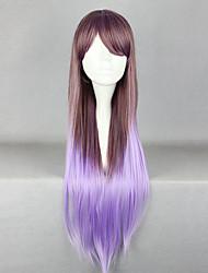 Недорогие -Elegent фея молнии коричневый и фиолетовый Смешанные цвета 80см принцессы Лолита парик