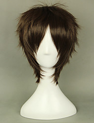 cheap -Cosplay Wigs Attack on Titan Eren Jager Anime Cosplay Wigs 35 CM Heat Resistant Fiber Men's