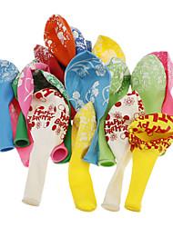 economico -10pcs Buon Compleanno modello Candy colore Balloon