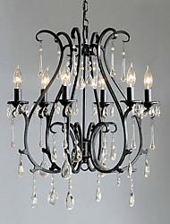 moderna 6 - característica vela candelabros de cristal de la luz