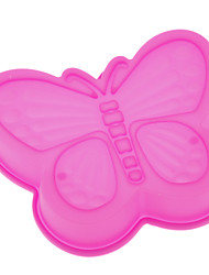 1Pc Pink Butterfly Shaped Silicone Cake Mould Kitchen  Supplies