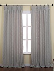 baratos -(Dois painéis) mediterrâneo cortina jacquard xadrez