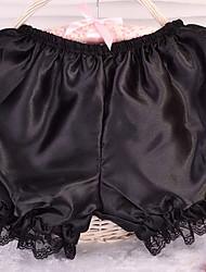 baratos -Gótica Lolita Mulheres Calças Cosplay Preto