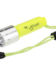 LED Flashlights/Torch Diving Flashlights/Torch Handheld Flashlights/Torch LED 1000 Lumens 1 Mode Cree XM-L T6 18650 Rechargeable