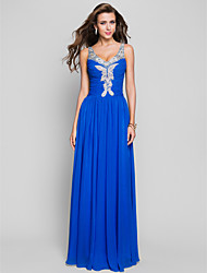 Sheath / Column Straps Floor Length Chiffon Prom Dress with Beading by TS Couture®