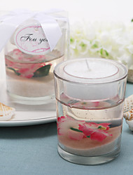 "cheap -""Cherry Blossom"" Blossom-Filled Tea Light Holder Wedding Favors"