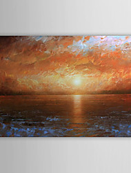 Hand-Painted Landscape Abstract Landscape Horizontal One Panel Canvas Oil Painting For Home Decoration