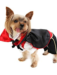 Dog Costume Red Dog Clothes Winter Spring/Fall Vampires Cute Cosplay
