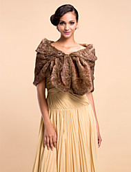 cheap -Faux Fur Party Evening Fur Wraps Shrugs