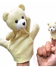 cheap -2PCS Parent-child Hand&Finger Puppets Beige Bears