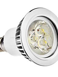 E14 GU10 LED Spotlight MR16 3 High Power LED 250lm Warm White Natural White 6500K AC 100-240V