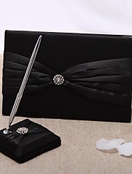 Guest Book Pen Set Satin Classic ThemeWithRhinestones