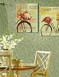 abordables -Reproduction transférée sur toile Art Floral Boutique Set de 2