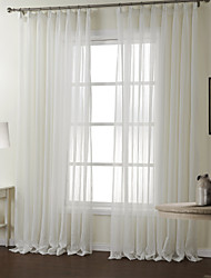 Two Panels Curtain Modern , Stripe Bedroom Polyester Material Sheer Curtains Shades Home Decoration For Window