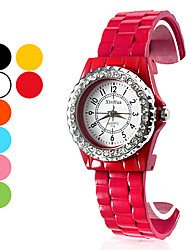 Women's Fashion Watch Wrist watch Bracelet Watch Quartz Band Black White Blue Orange Green Pink Yellow Rose