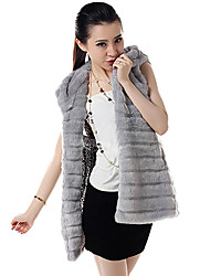 Fur Vest With Hood In Faux Fur Party/Casual Vest(More Colors)
