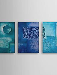 povoljno -Ručno oslikana Sažetak Horizontalan Platno Hang oslikana uljanim bojama Početna Dekoracija Tri plohe