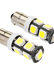 Ba9s 4W 9x5060SMD 320-360LM 6000-6500K White Light LED Bulb for Car (DC 12V, 2-Pack) 2pcs
