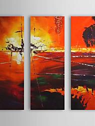 Ručno oslikana Pejzaž Horizontalan Platno Hang oslikana uljanim bojama Početna Dekoracija Tri plohe