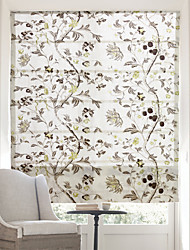 cheap -Chinese Floral Paintings Jacquard Roman Shade