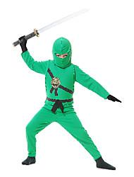 billige -Soldat / Kriger Ninja Cosplay Kostumer Festkostume Halloween Karneval Nytår Barnets Dag Festival / Højtider Halloween Kostumer Patchwork