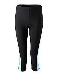 SPAKCT Cuissard 3/4 de Cyclisme Femme Vélo Pantalon/Surpantalon Corsaire Séchage rapide Pare-vent Antimite Vestimentaire Spandex Polyamide