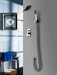 Contemporary  with  Chrome Single Handle Five Holes  ,  Feature  for Waterfall Widespread Wall Mount