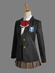 Inspired by Free! Gou Matsuoka Anime Cosplay Costumes Cosplay Suits School Uniforms Patchwork Long Sleeves Cravat Coat Shirt Skirt