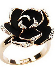 cheap -Women's Statement Ring - Rhinestone, Alloy Roses, Flower Vintage, European, Open Adjustable Silver / Golden For Party / Daily / Casual
