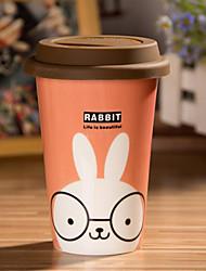 caneca de coelho dos desenhos animados com cola flexível copo cover
