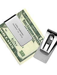 cheap -Stainless Steel Money Clips Wedding Anniversary Birthday Business