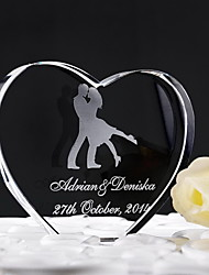 Cake Topper Personalized Hearts Crystal Anniversary / Wedding Classic Theme Gift Box
