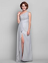 Bainha / coluna um ombro chão-comprimento chiffon mãe do vestido de noiva por lan ting bride®
