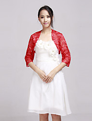 cheap -Lace Wedding / Party Evening / Casual Wedding  Wraps With Coats / Jackets