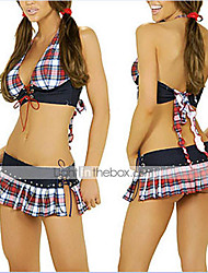 cheap -Uniforms Cosplay Costume Women's Halloween Carnival New Year Festival / Holiday Halloween Costumes Red/black Plaid School Uniforms