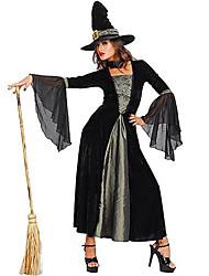 Sorcier/Sorcière Costumes de Cosplay Costume de Soirée Féminin Halloween Fête / Célébration Déguisement d'Halloween Couleur Pleine