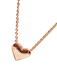 cheap -Women's Heart Pendant Necklace - Love Fashion Heart Golden Necklace For Party