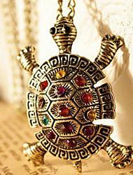 Femme Pendentif de collier Forme d'Animal Tortue Cuivre Strass Mode Le style mignon Européen Bijoux de Luxe Bijoux Pour Quotidien 1pc