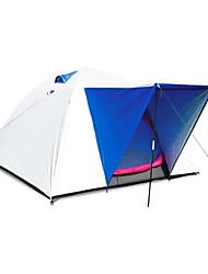 Недорогие -3-4 человека На открытом воздухе Водонепроницаемость С защитой от ветра Дожденепроницаемый Двухслойные зонты Палатка 1000-1500 mm для Пешеходный туризм Походы Путешествия