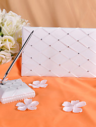 Guest Book Pen Set Satin Garden ThemeWithRhinestones