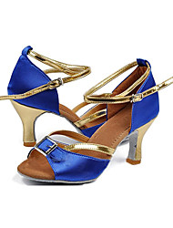 "Scarpe da ballo - Disponibile ""su misura"" - Donna - Latinoamericano - Customized Heel - Satin - Blu"