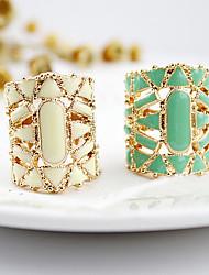 Feminino Maxi anel bijuterias Acrílico Liga Jóias Para Diário